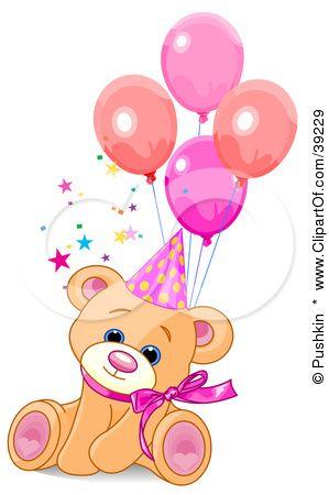 Illustration of a cute. Bears clipart happy birthday