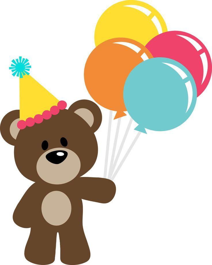 Bears clipart happy birthday. Teddy bear clip art