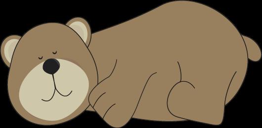 Bears clipart hibernating. Bear clip art sleeping