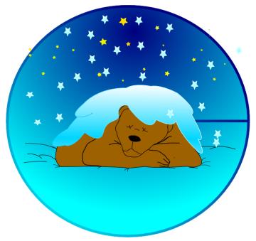 Bears clipart hibernating. Free bear page of