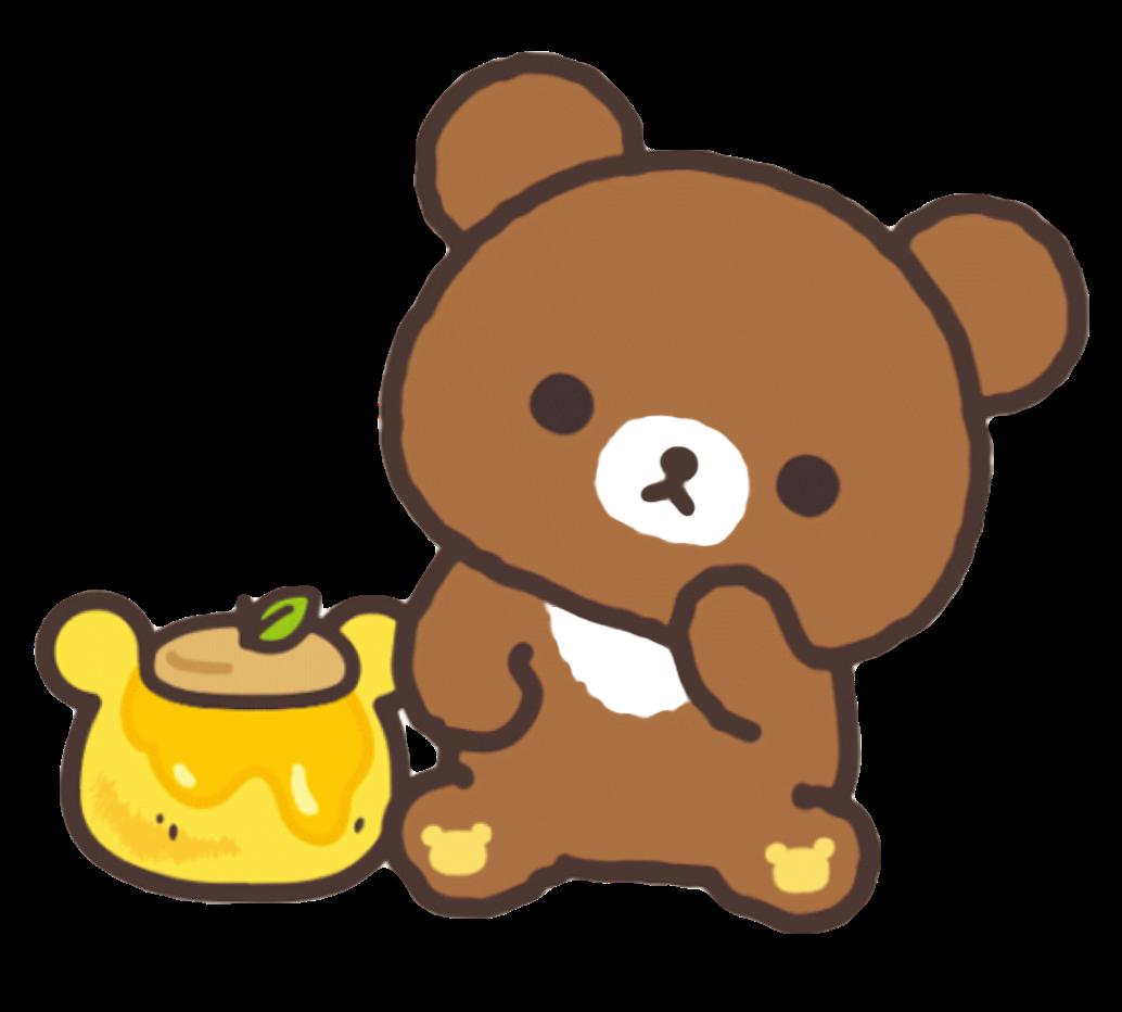 Bears clipart kawaii. Honey cute bear brown
