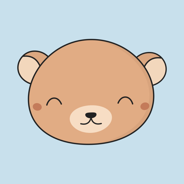 Bears clipart kawaii. Cute brown bear face