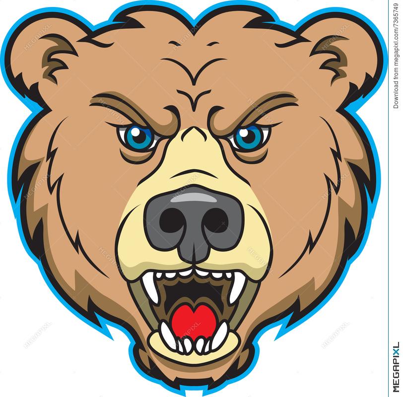 Bears clipart mascot. Bear logo illustration megapixl