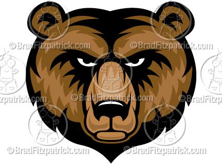 Bear clipart logo. Cartoon clip art graphics
