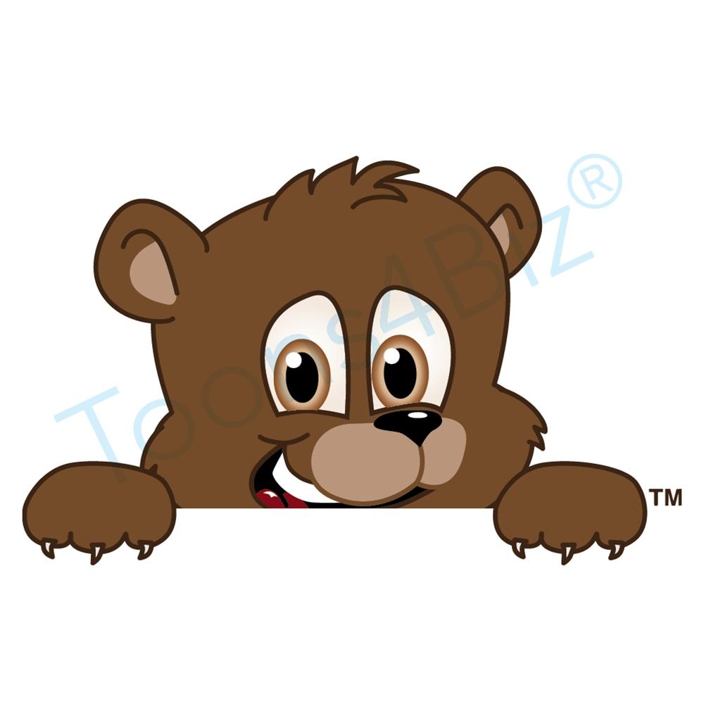 Bears clipart mascot. Bear peeking over clip