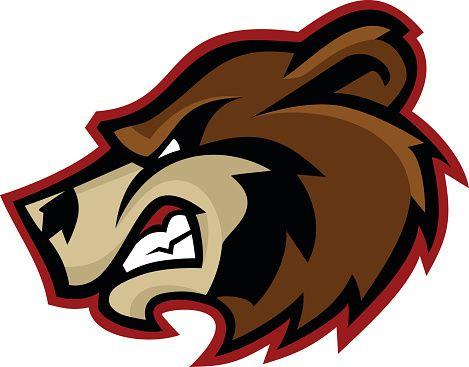 Bears clipart mascot. Bear logo vector art