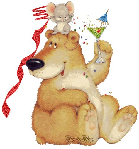 Bears clipart new years eve.  best transparent teddys