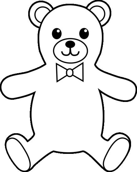 Teddy bear drawing at. Bears clipart outline