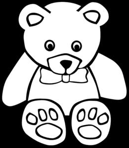 Teddy bear clip art. Bears clipart outline