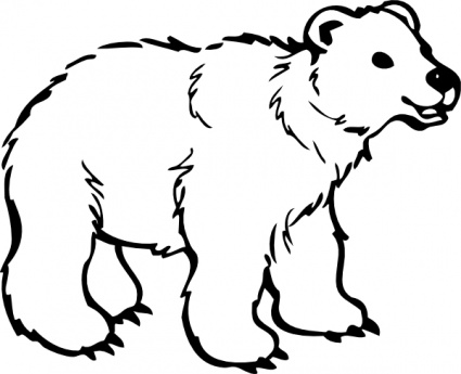 Free bear download clip. Bears clipart outline