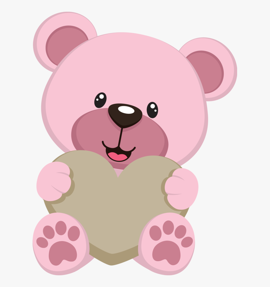 Jbqkkprltswfcj teddy bear cartoon. Bears clipart pink