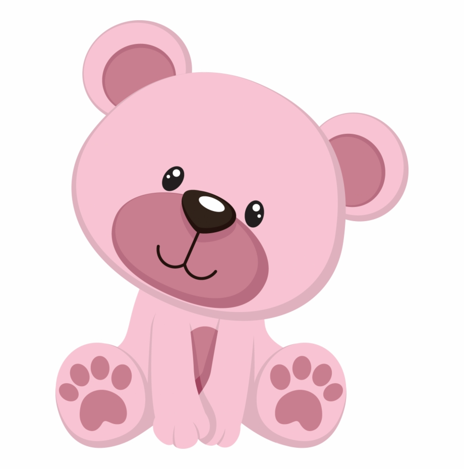 Bears clipart pink. Baby shower bear png