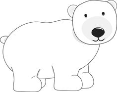 Bears clipart polar bear. Pattern outlines for a
