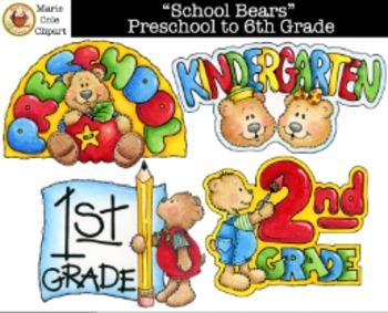 Bears clipart preschool.  school to th