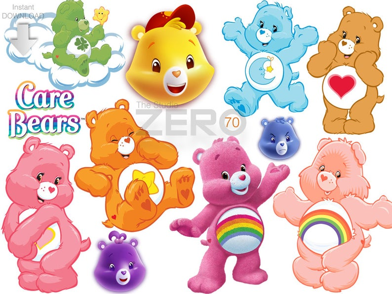 care instant download. Bears clipart printable