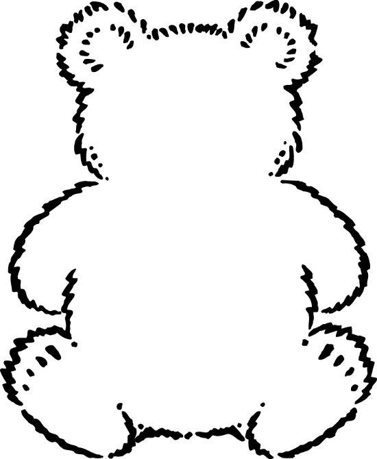 Bears clipart printable. Free teddy bear outline