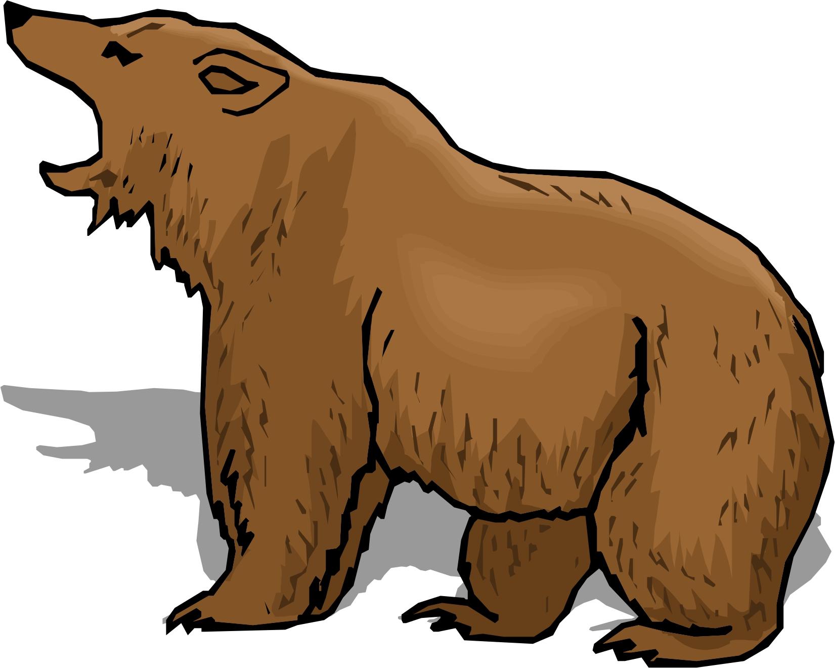 Free cartoon brown bear. Bears clipart real