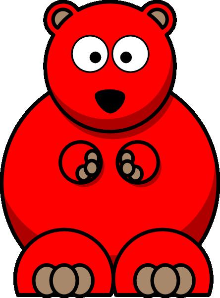 Bears clipart red. Bear clip art at