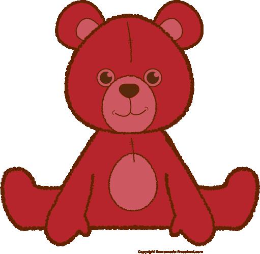 Teddy bear . Bears clipart red
