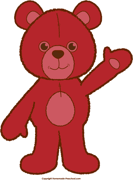 Bears clipart red. Teddy bear click to