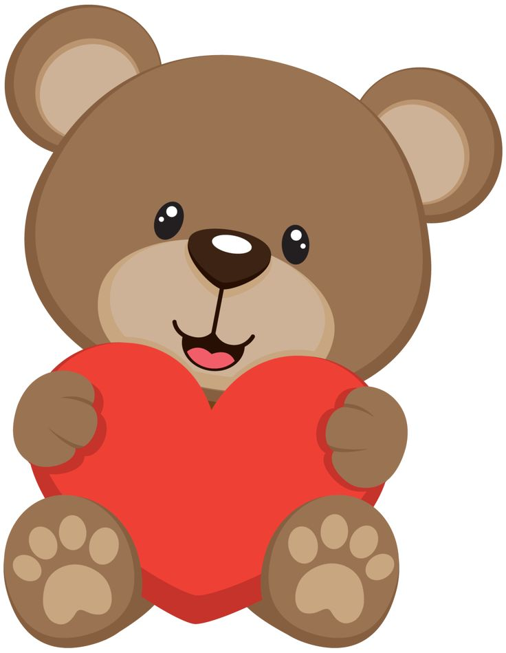 Bears clipart red. Teddy bear png free