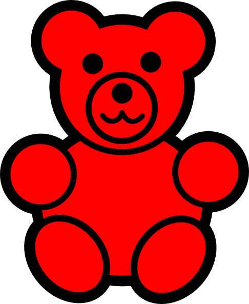 Gummy bear pencil and. Bears clipart red