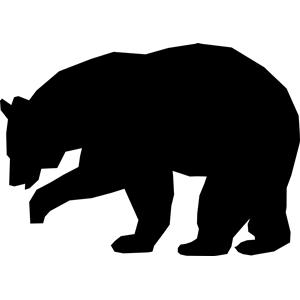 Bears clipart simple. Black bear cricut pinterest
