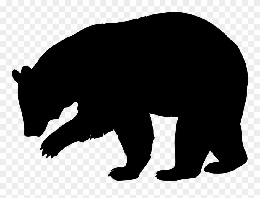 Bears clipart simple. Bear clip silhouette black