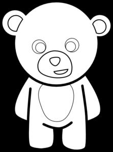 Bears clipart simple. Teddy bear outline clip