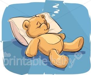 Bears clipart sleeping. Teddy bear baby