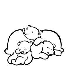 Bear for hibernating craft. Bears clipart sleeping