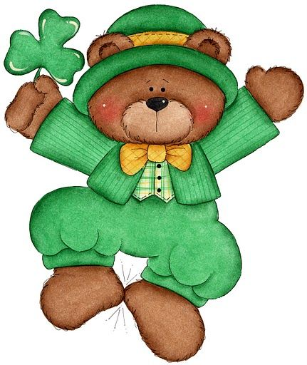 Bears clipart st patricks day. Laurie furnell irish bear