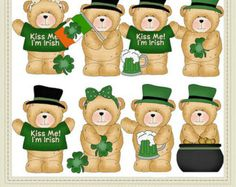 Fuzzy cubs baby graphics. Bears clipart st patricks day