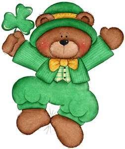 Bears clipart st patricks day. Dancing bear holiday saint