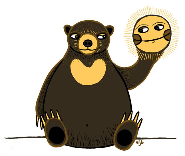 Bears clipart sun bear. Daily animal doodle august