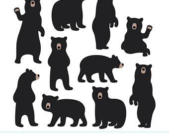 Bears clipart sun bear. Clip art etsy digital