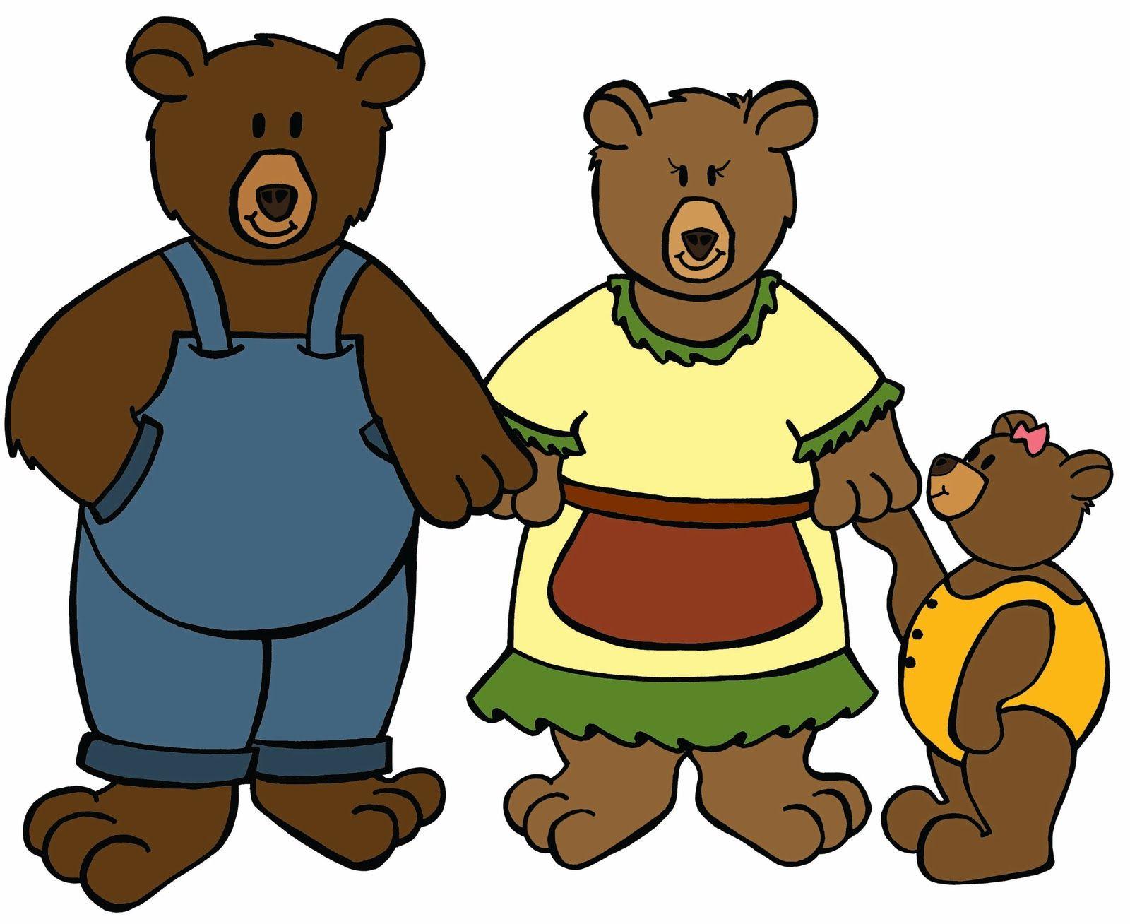 Bears clipart three bears. Goldilocks and the cliparts