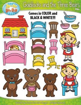 Bears clipart three bears. Goldilocks and the fairy