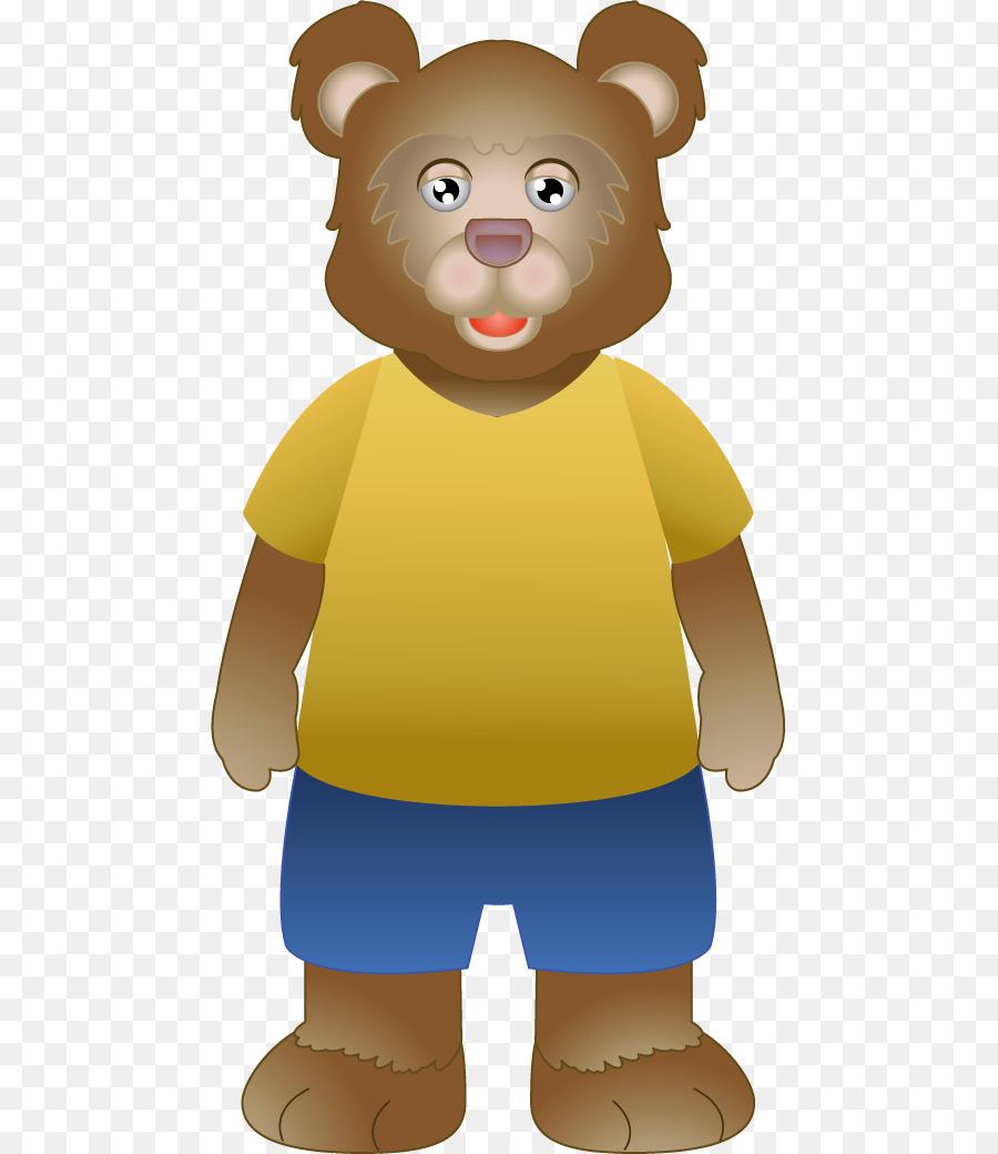 Goldilocks and the teddy. Bears clipart three bears