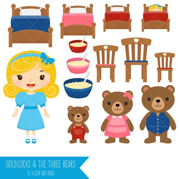 Goldilocks and the . Bears clipart three bears