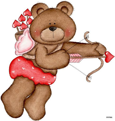 best valentine clip. Bears clipart valentines