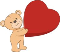 Search results for heart. Bears clipart valentines