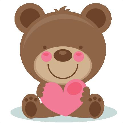 Bears clipart valentines. Cute valentine bear scrapbook