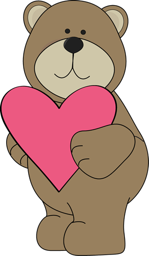 Valentine s day clip. Bears clipart valentines