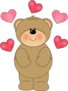 Free valentine bear cliparts. Bears clipart valentines