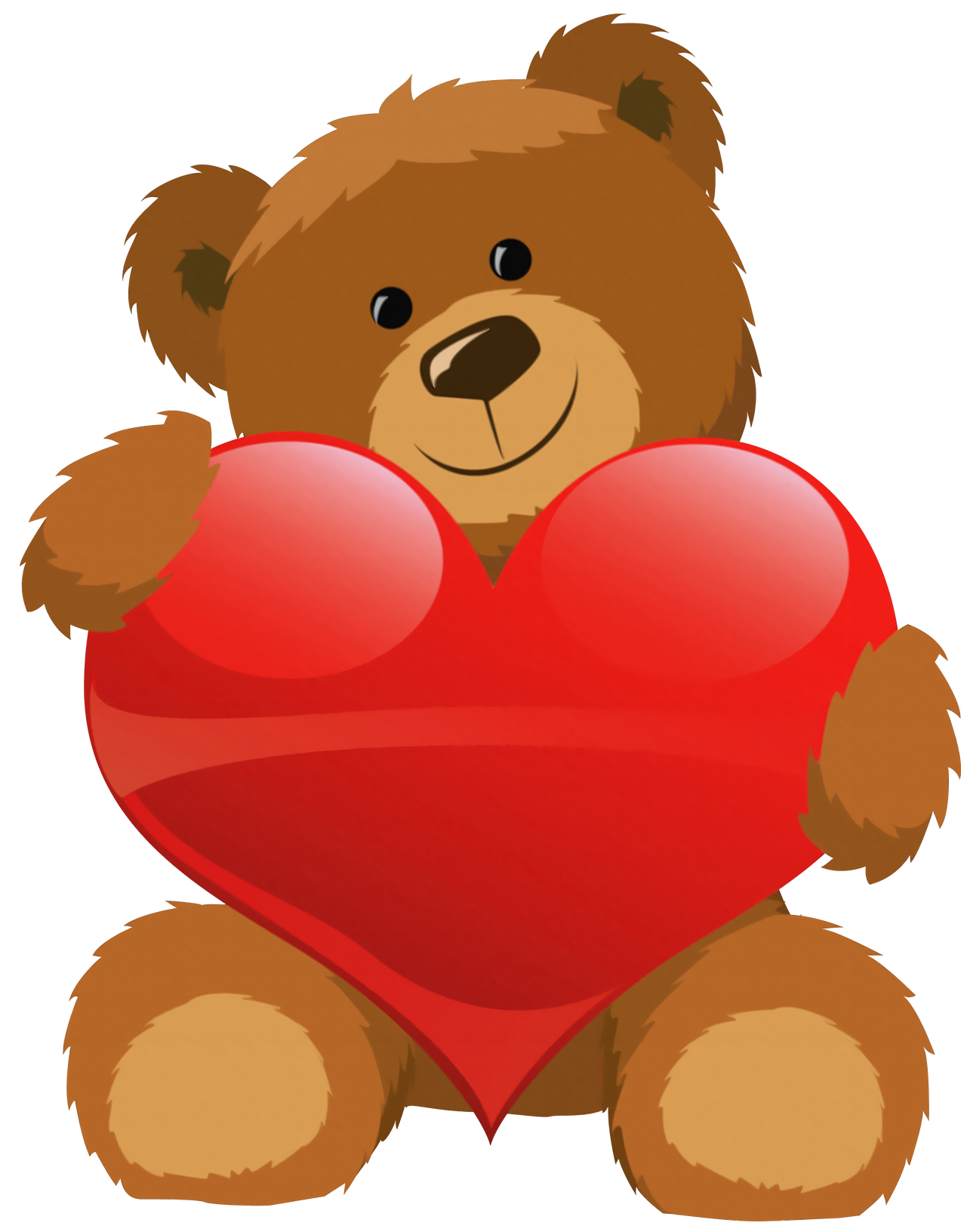 Valentine clipart animated. Cute bear with heart