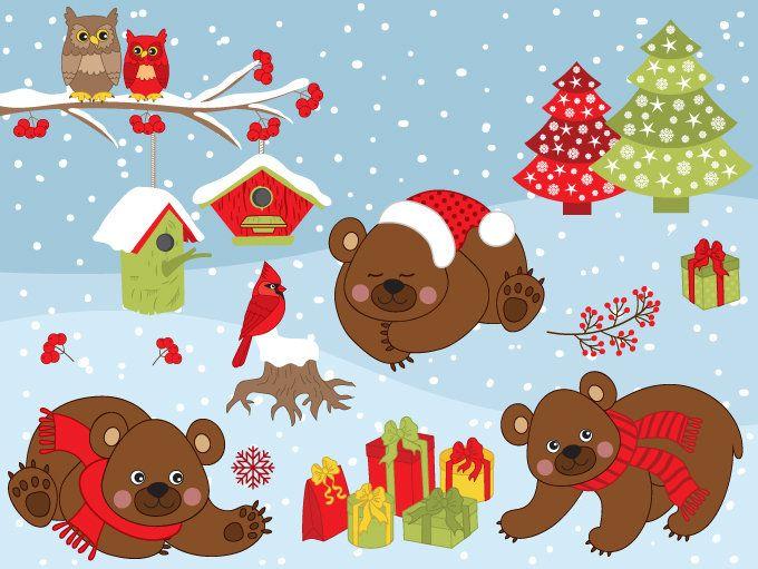 Bears clipart vector.  off sale winter