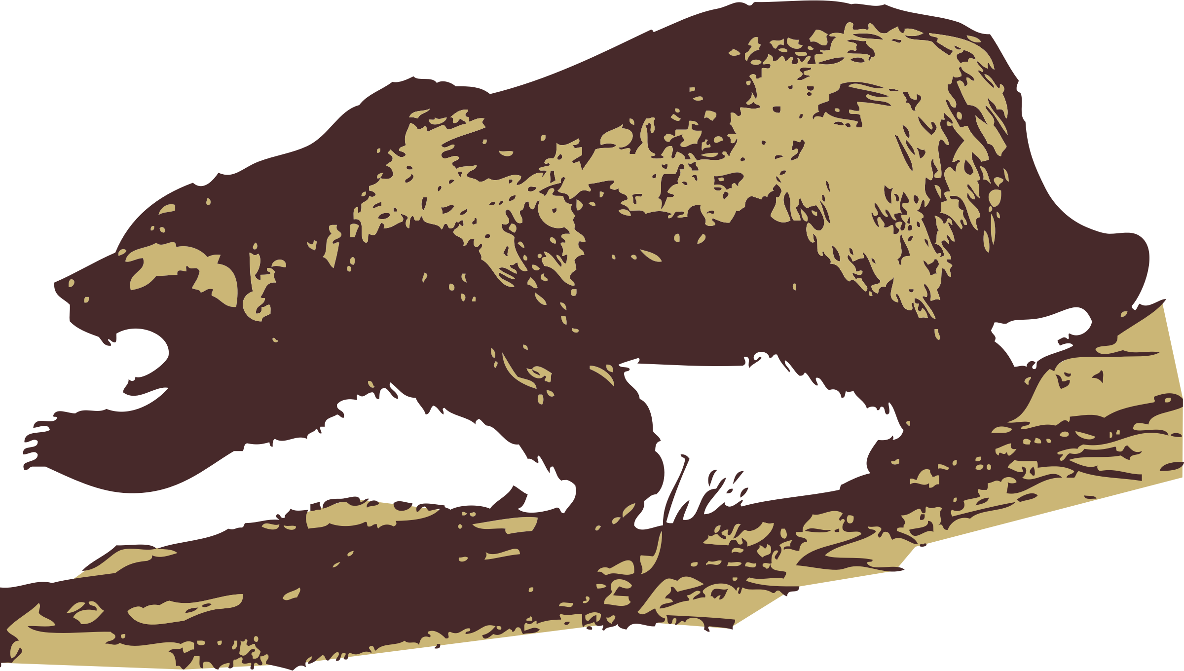 Attacking big image png. Head clipart brown bear