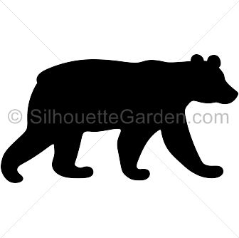 Grizzly bear silhouette clip. Bears clipart wild