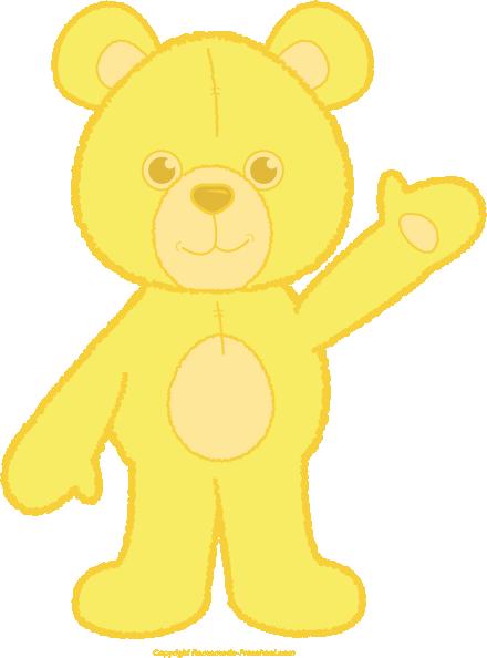 Teddy bear click to. Bears clipart yellow